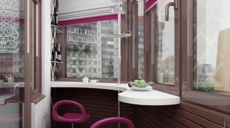 Барная стойка на балконе: 4 вида конструкций obustroeno.com.
