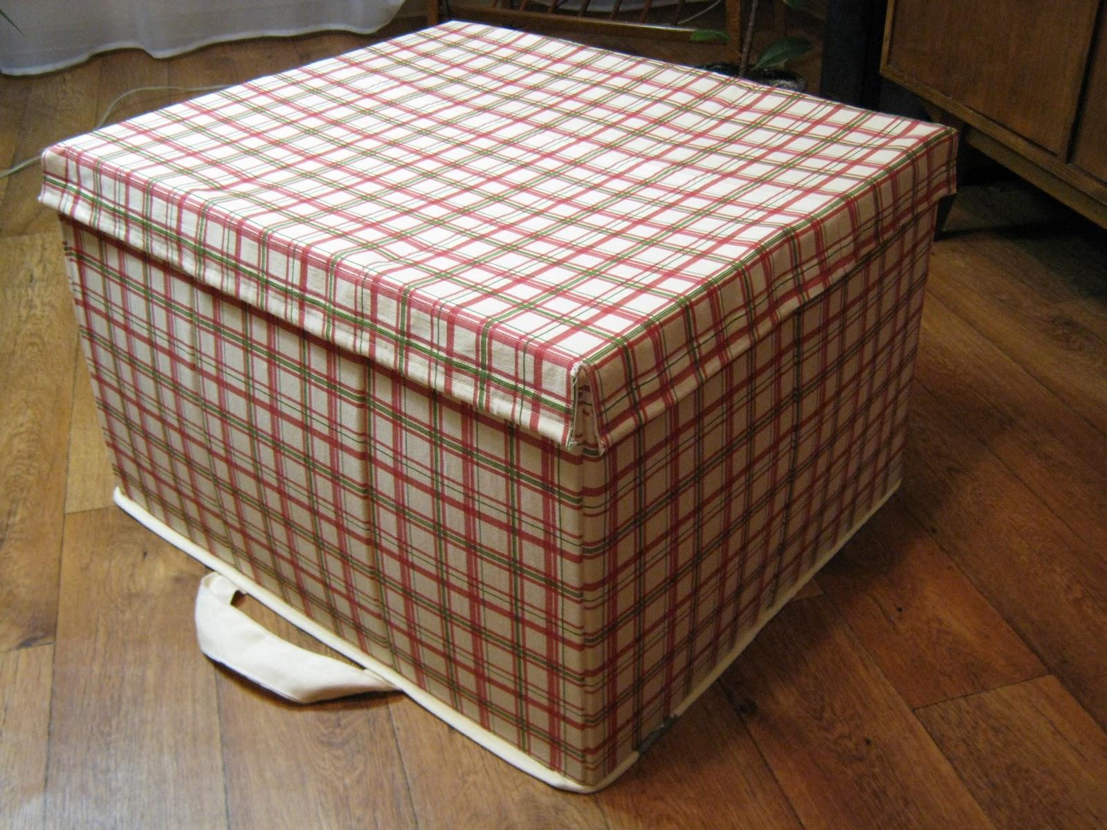 Текстильная коробка для хранения вещей своими руками 946