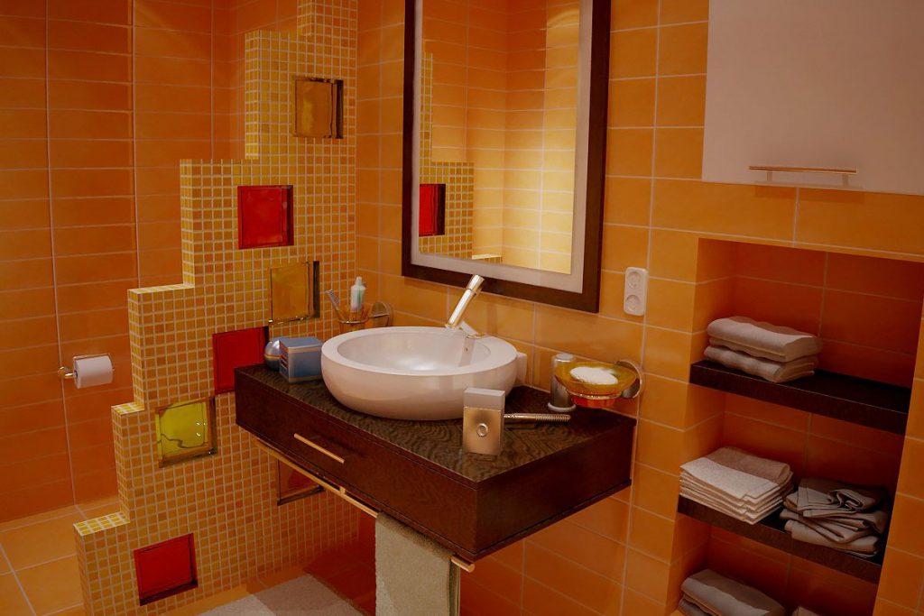 Стеклоблоки в интерьере ванной комнаты фото
