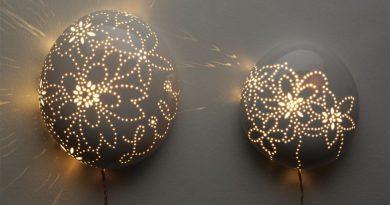 Оригинальные самодельные светильники на стену: 2 подробных мастер-класса