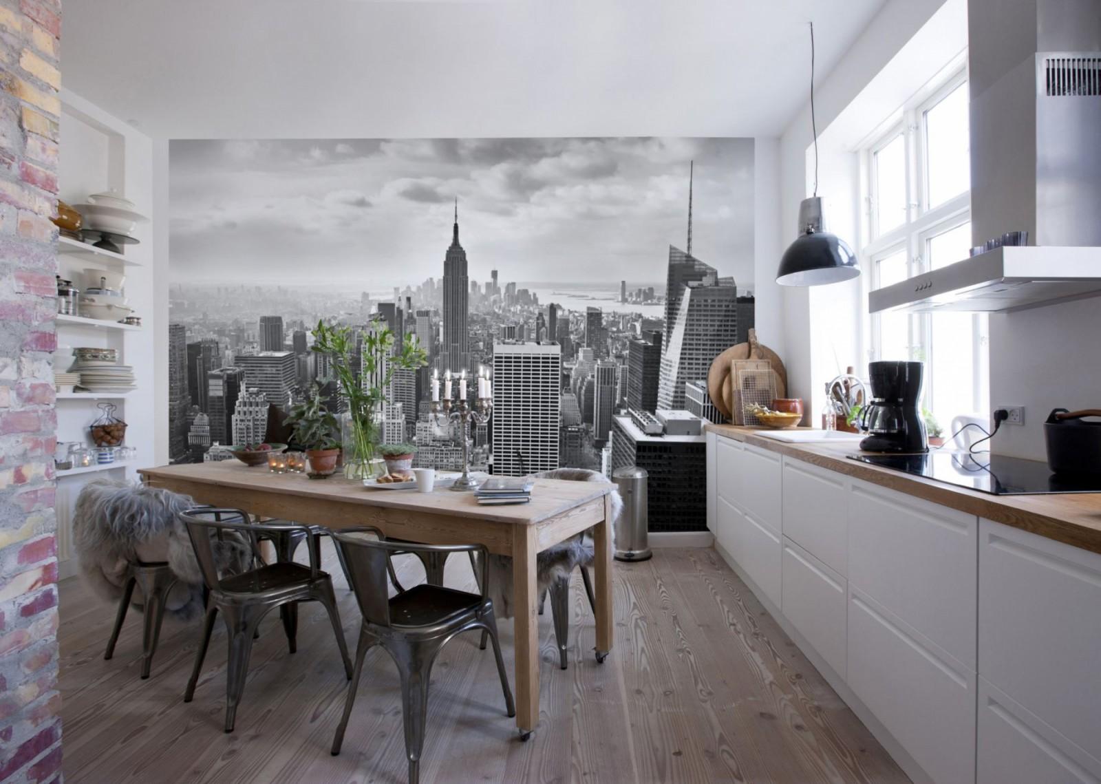 Интерьер кухни фотообоями 171