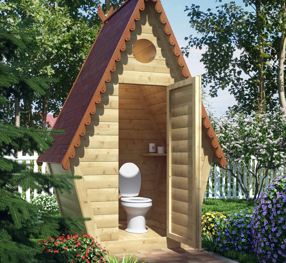 Сделать красивый туалет на дачу своими руками