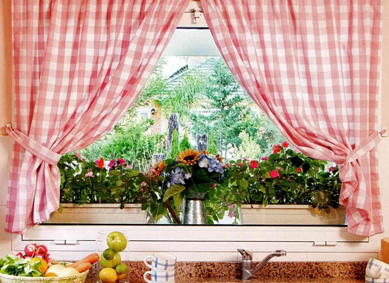 Занавески на кухню - 95 фото новинок коротких штор для кухни.