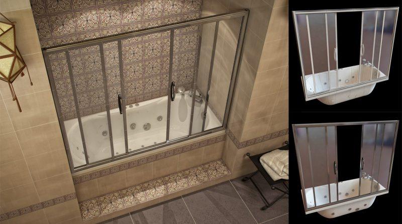 Стеклянный экран для ванной своими руками 4