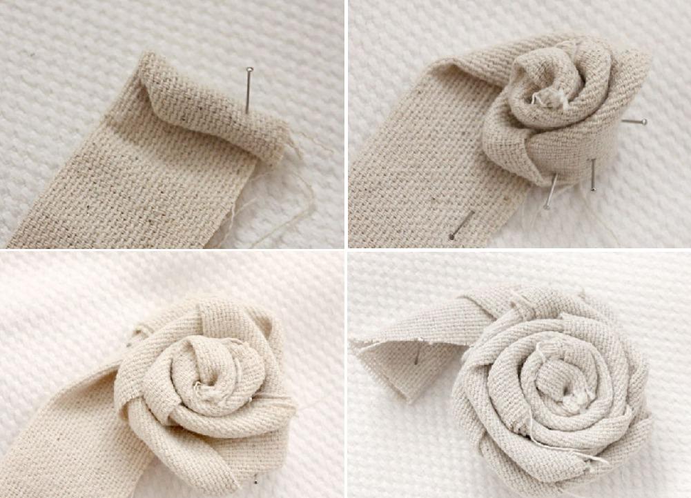 Как сделать цветы из мешковины своими руками