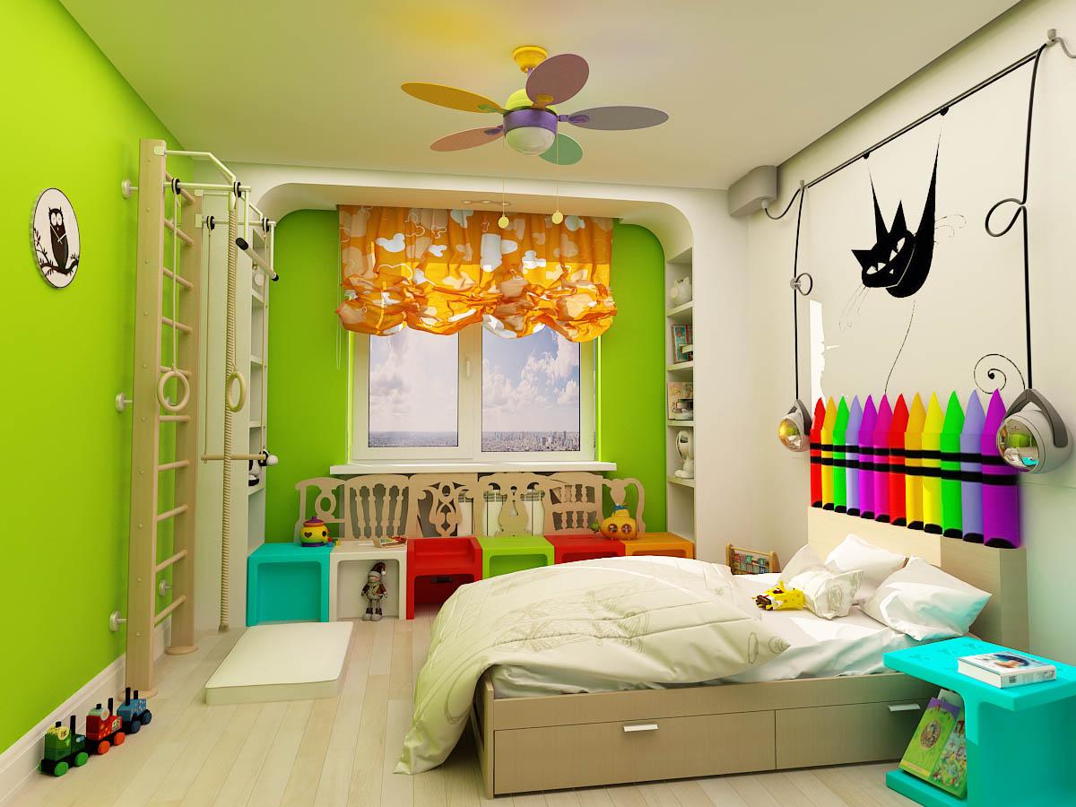 Как из детской сделать две комнаты