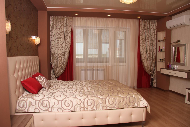 Штора и покрывало для спальни дизайн