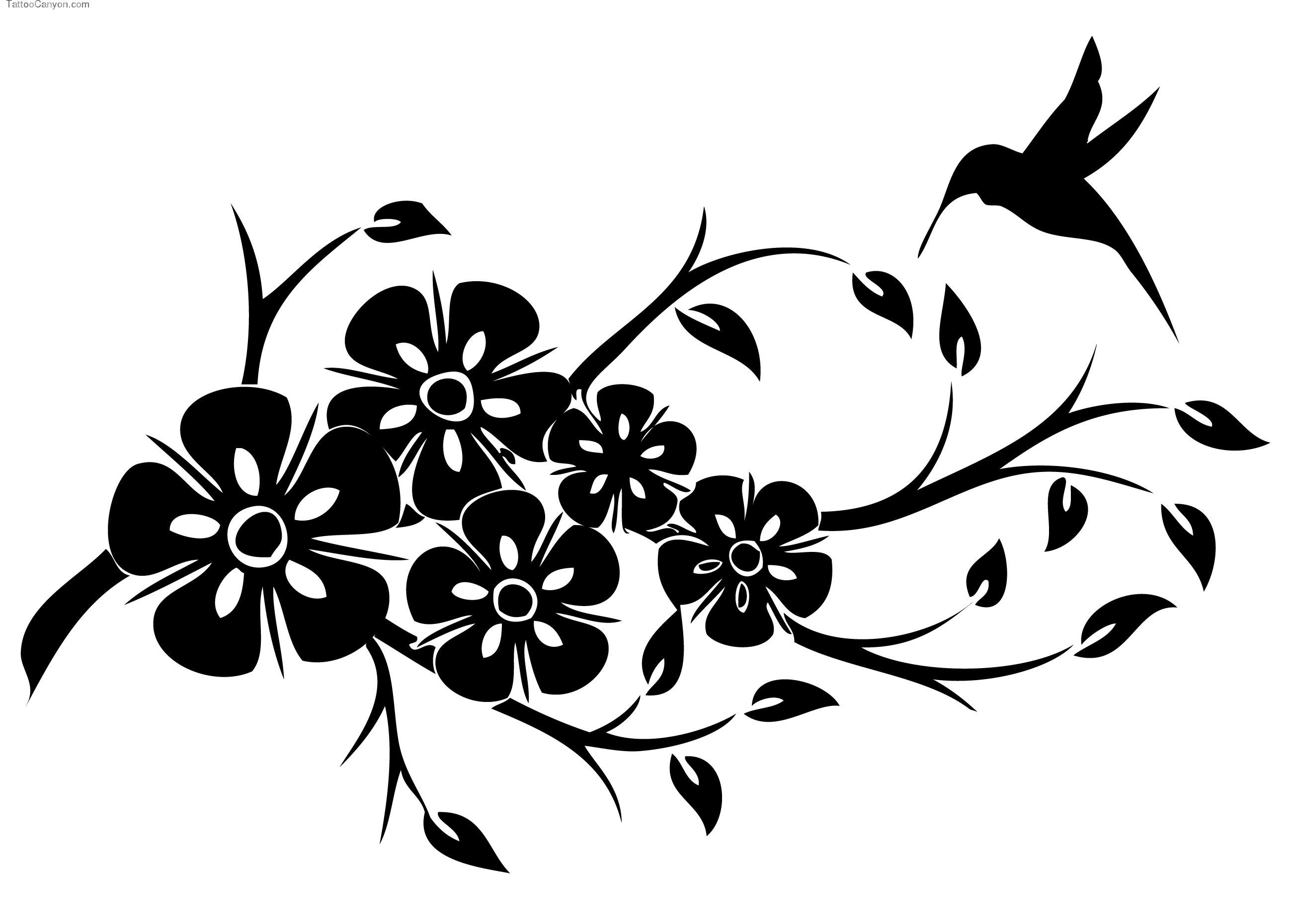 Трафареты для декора цветы