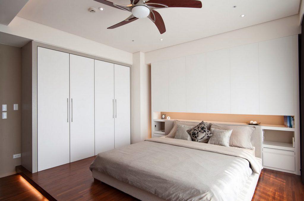 Дизайн спальни 18 кв.м с гардеробной
