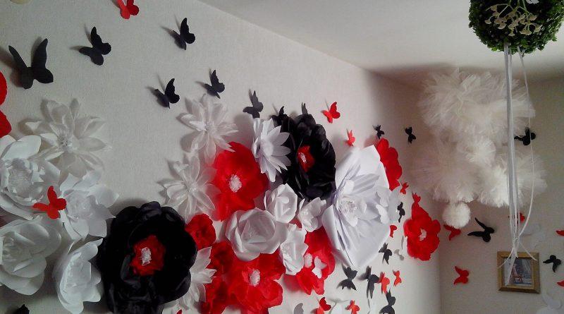 Как украсить стену на свадьбу своими руками фото