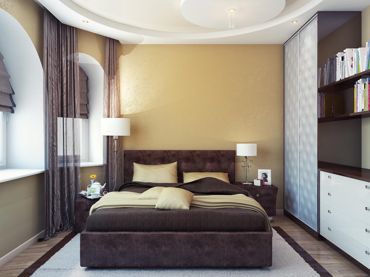 Ремонт спальни 9 квм своими руками фото обои два цвета 100