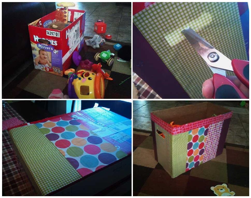 Ящики для игрушек из коробки своими руками