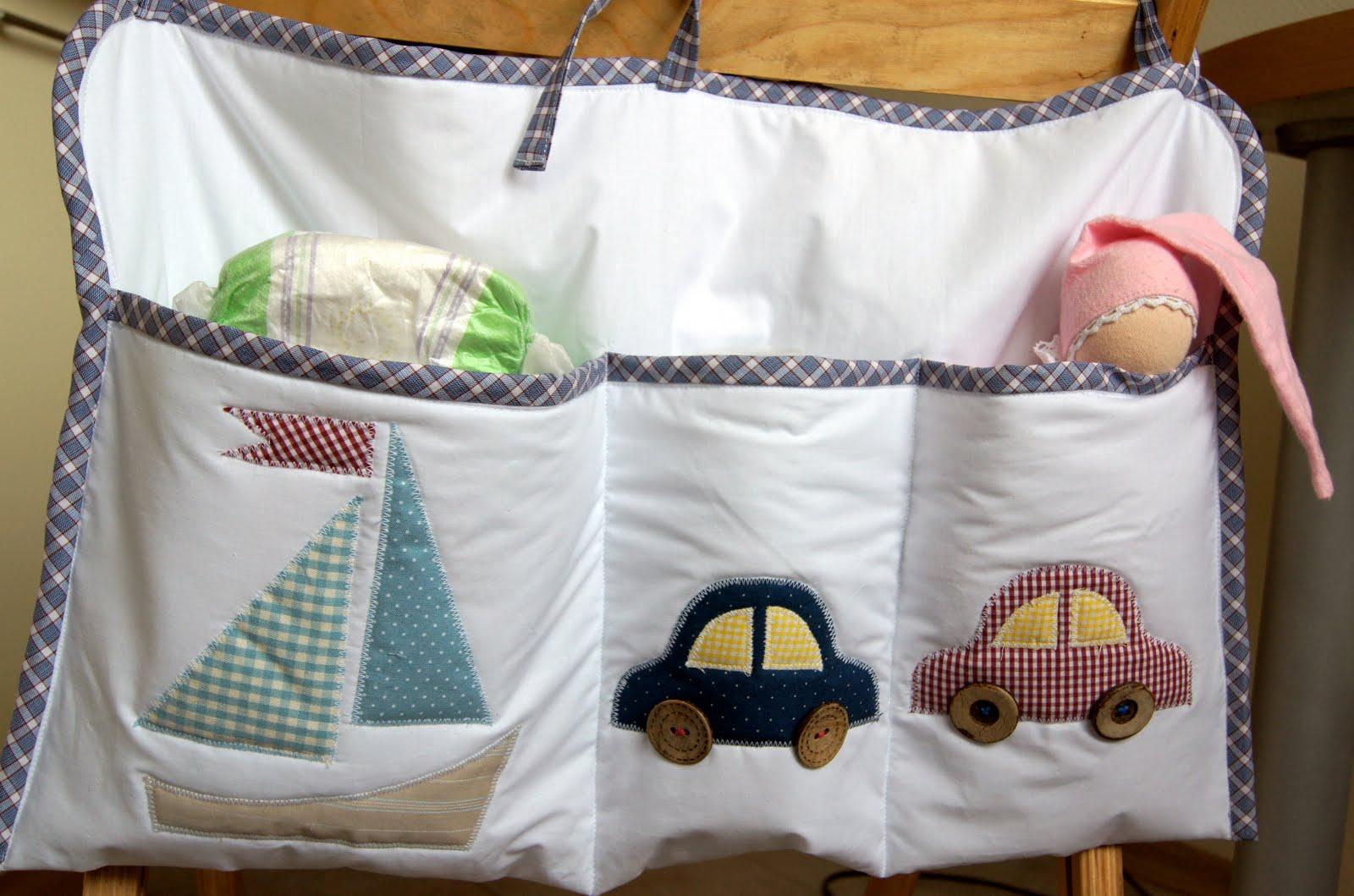 Бортики с кармашками в детскую кроватку своими руками