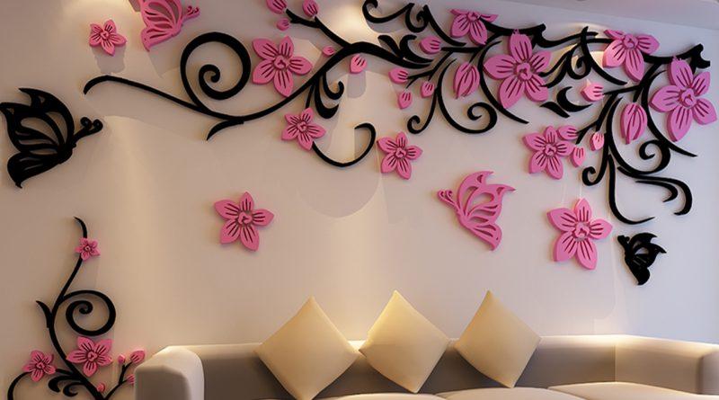 Украшение на стену: делаем яркие поделки из бумаги своими руками