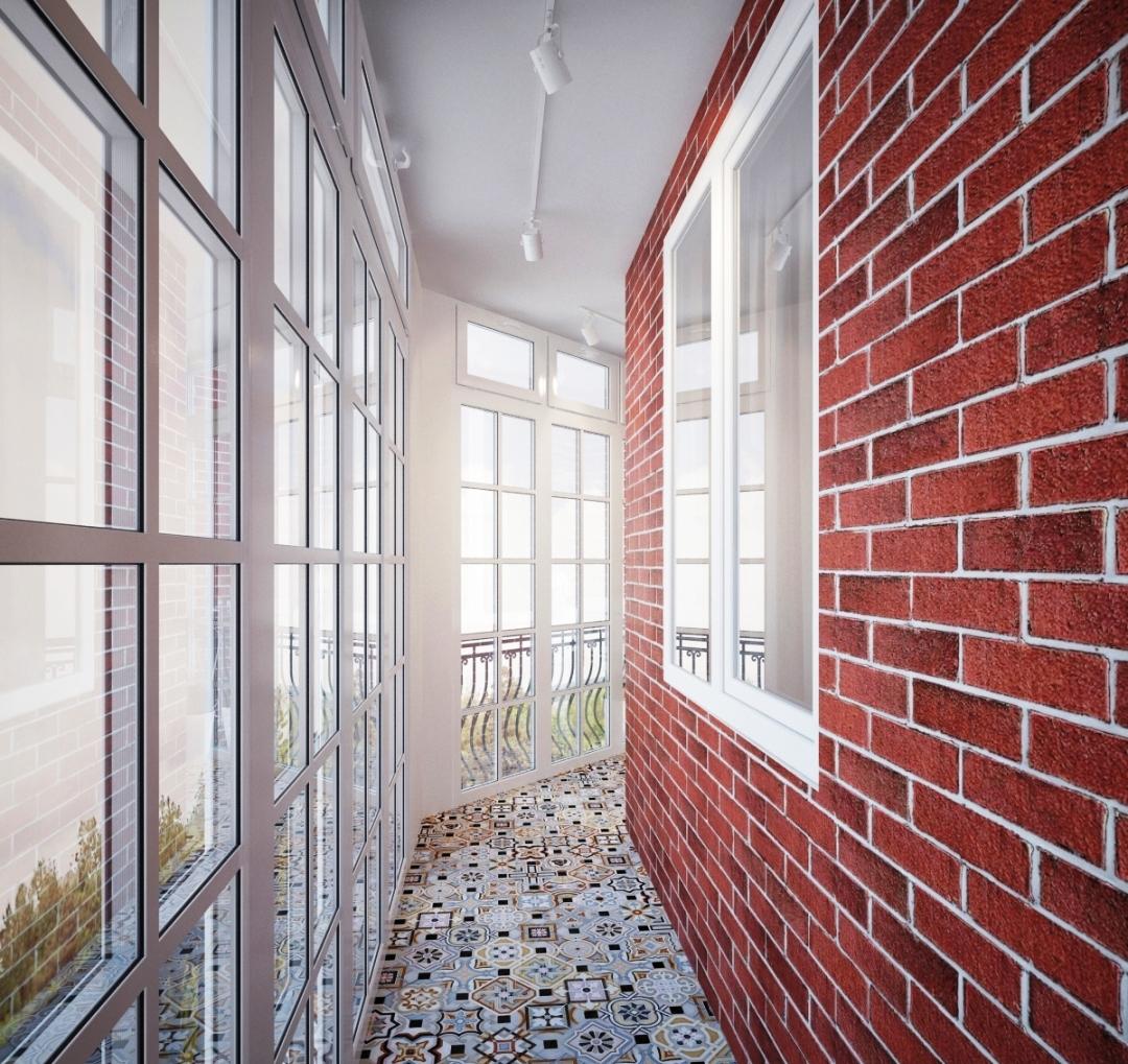 Отделка балкона и лоджии декоративным кирпичом: фото и видео.