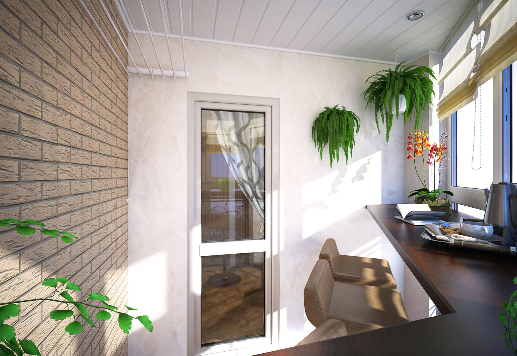 Дизайн балкона из кирпича: секреты грамотной отделки кирпичн.