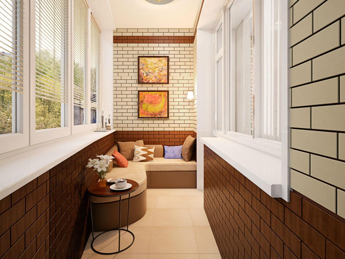 Фото интерьер балкон на кухне.