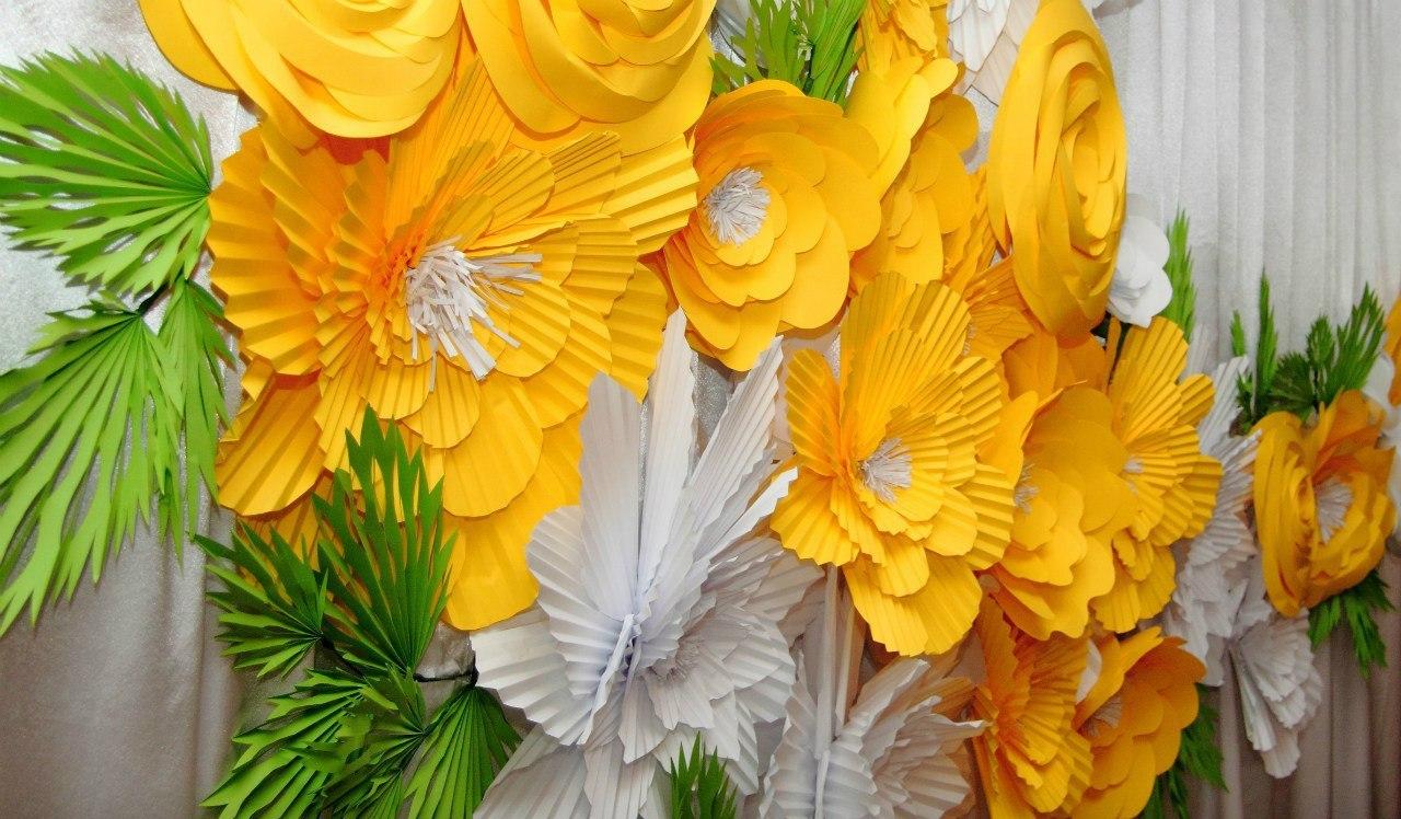 Цветы из бумаги для сцены своими руками