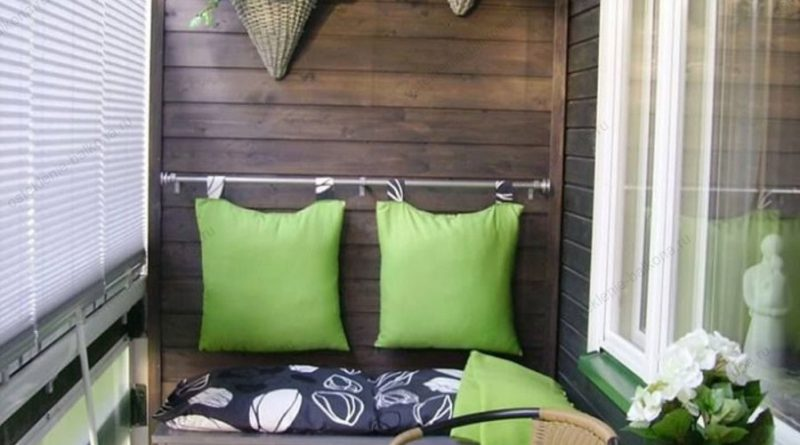 Оформление и отделка стен на балконе: возможные варианты и нестандартные решения