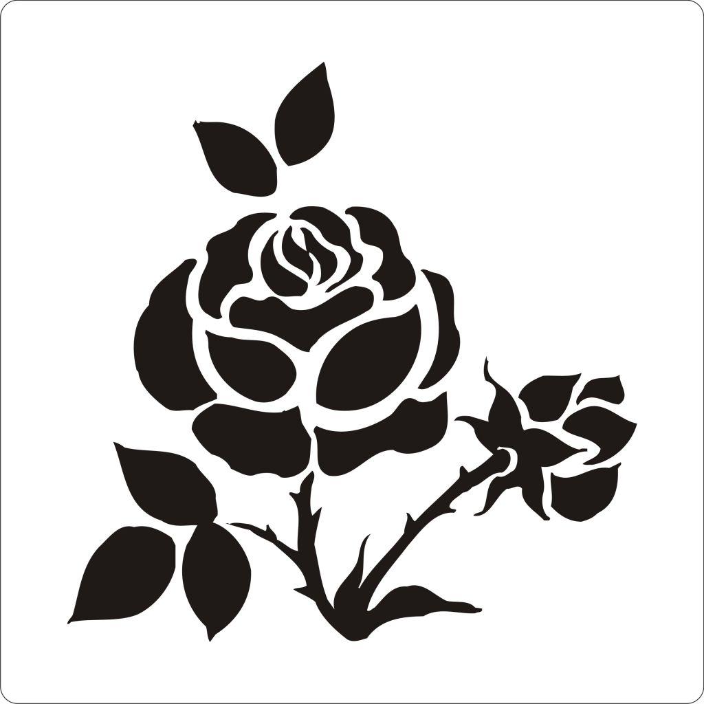 Как сделать трафарет розы своими руками