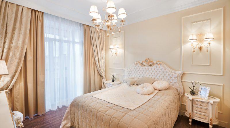 Дизайн спальни в бежевом цвете — элегантность и универсальность (39 фото)