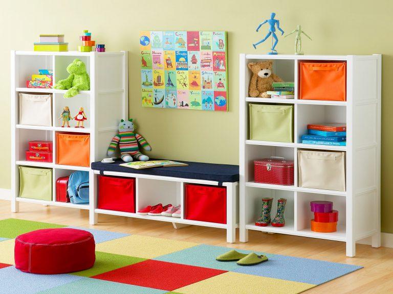 Стеллажи для игрушек в детскую комнату своими руками