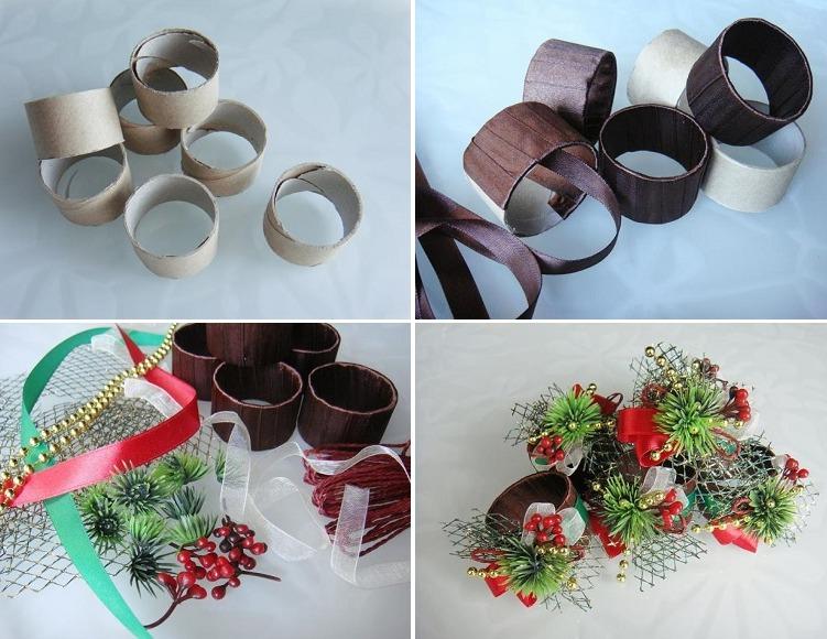 Новогодние кольца для салфеток своими руками