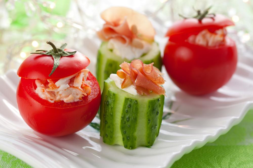 Стаканчики из овощей с начинкой