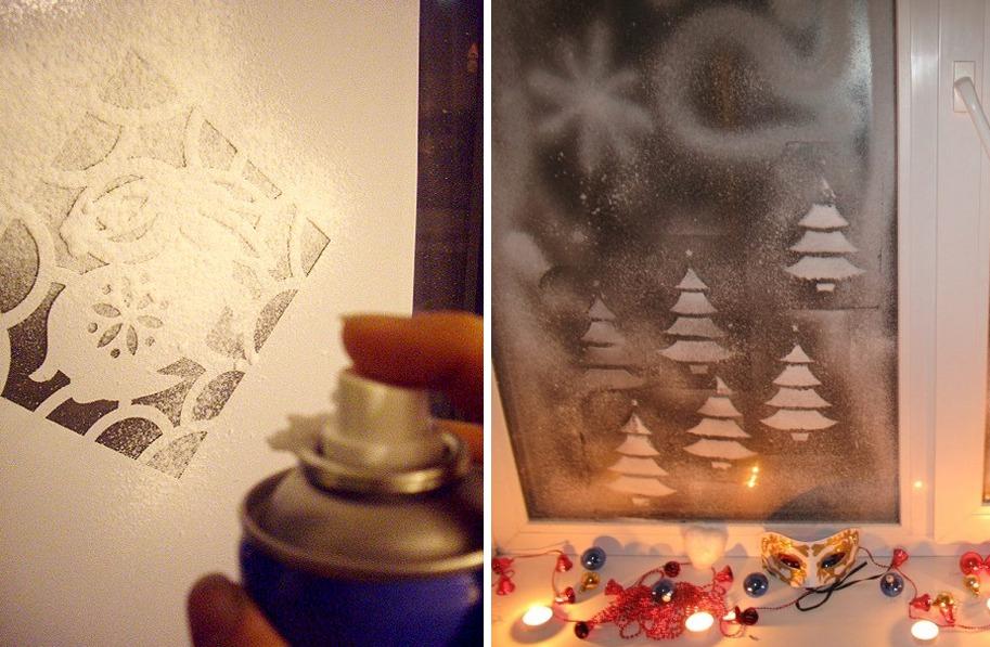 Как разукрасить окно к новому году