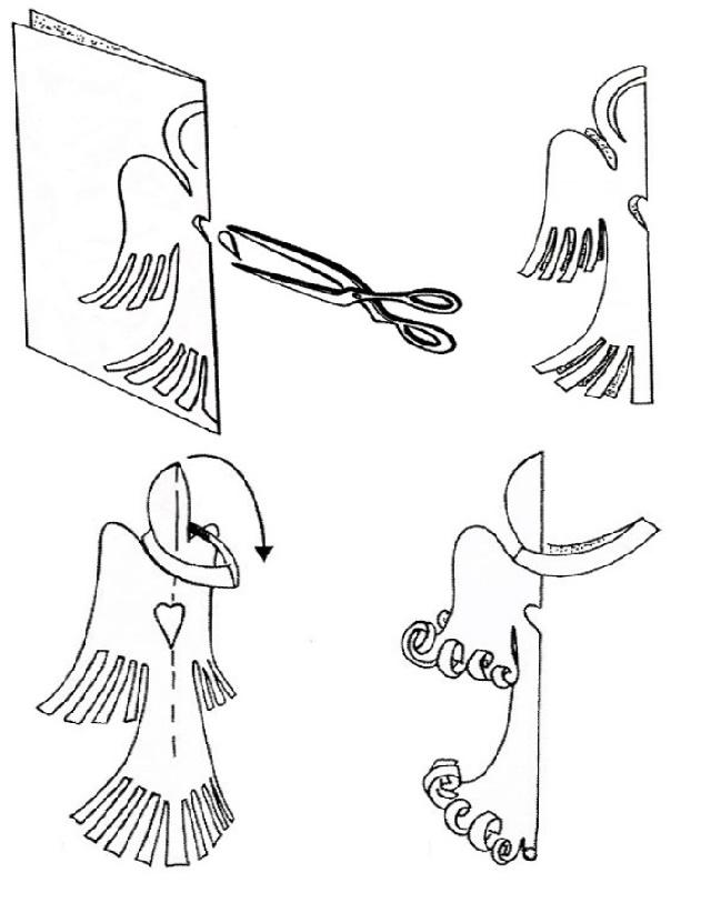 Ангелочек из бумаги своими руками