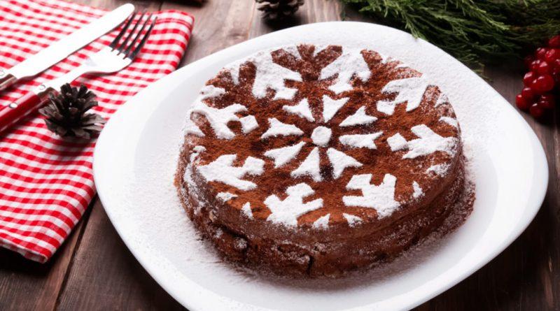 Торт снежинка на Новый год