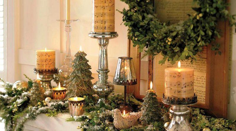Новогодние украшения для камина