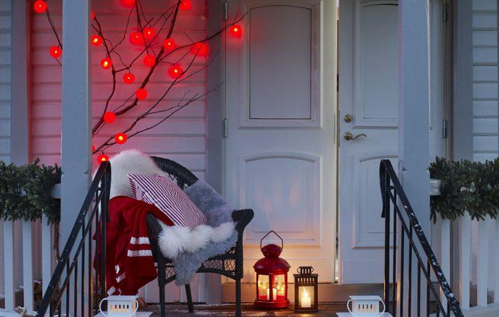 Как украсить веранду к Новому году
