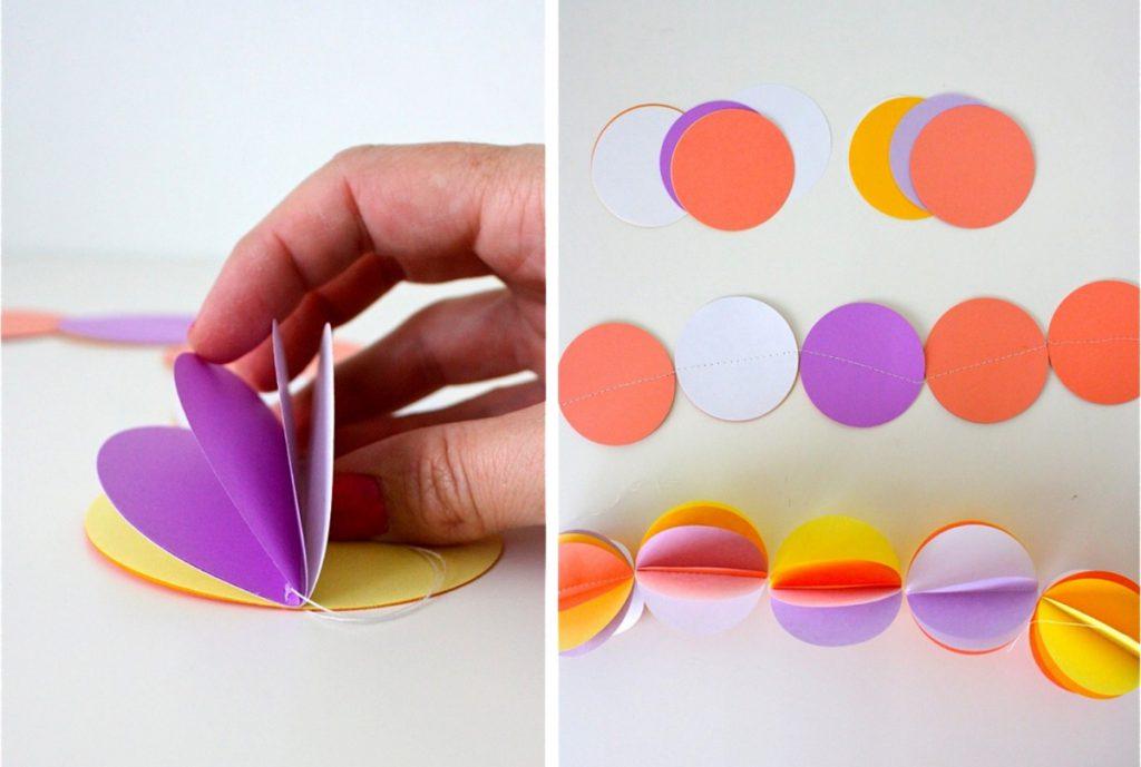 Гирлянда из бумажных шариков своими руками