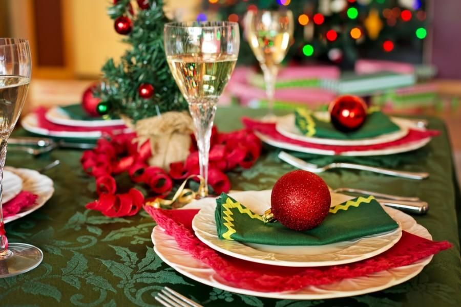 Сервировка стола на новый год 2018