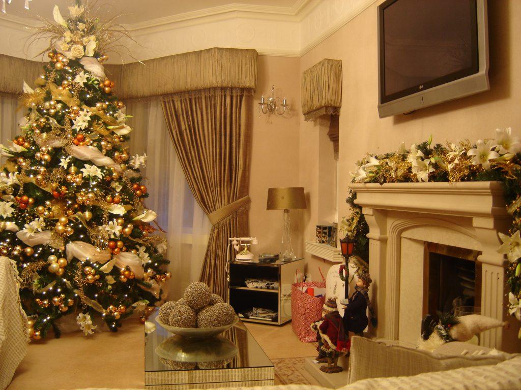 Украшение зала к Новому году 2018