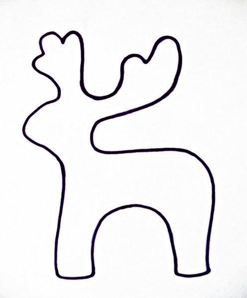 Шаблон олененка