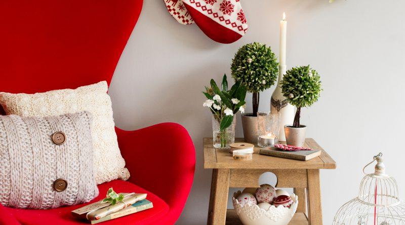 Новогодний текстиль в скандинавском стиле