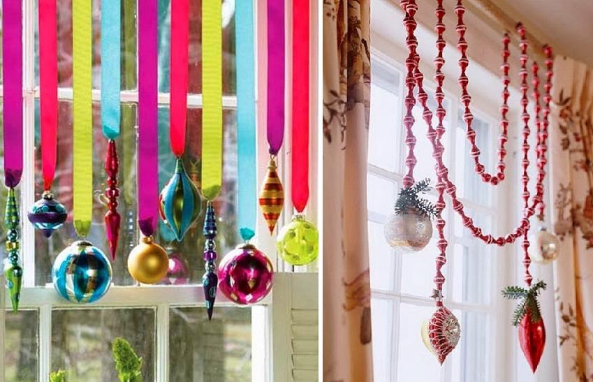 Как украсить шторы на Новый год