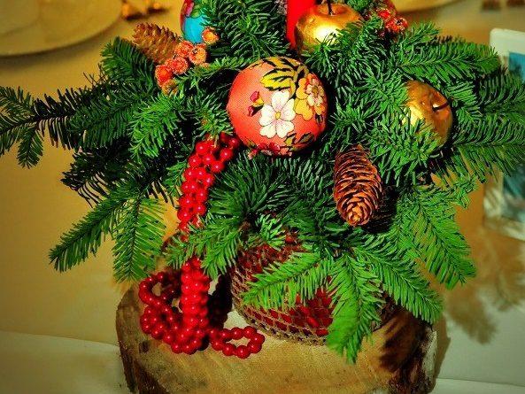 Новогодние крашения в русском стиле