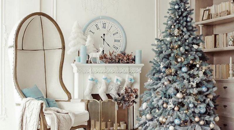 Украшение комнаты в стиле прованс к Новому году