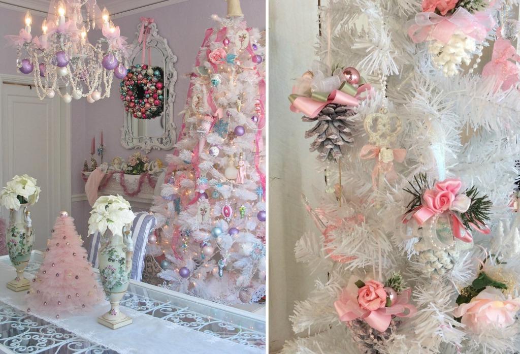 Новогодние украшения в стиле шебби шик