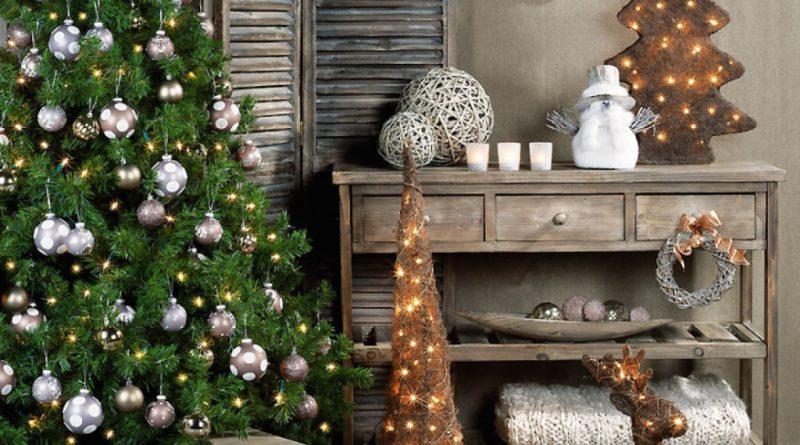 Как украсить дом в стиле прованс на Новый год