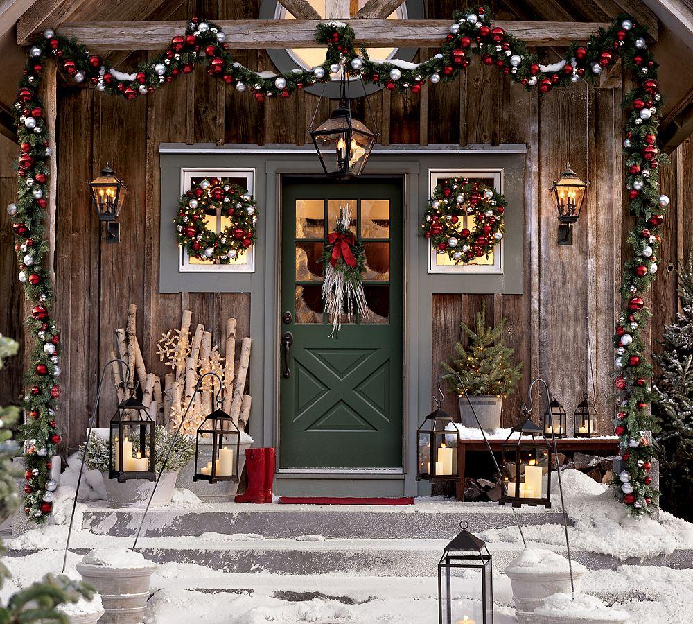 Новогодний декор дома в стиле прованс