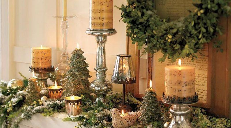 Новогодний декор в стиле прованс