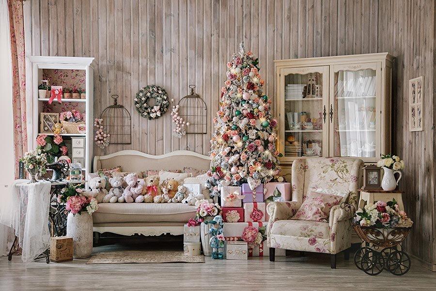 Как украсить комнату в стиле прованс на Новый год