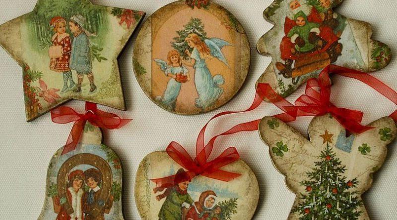 Игрушки на елку в русском стиле