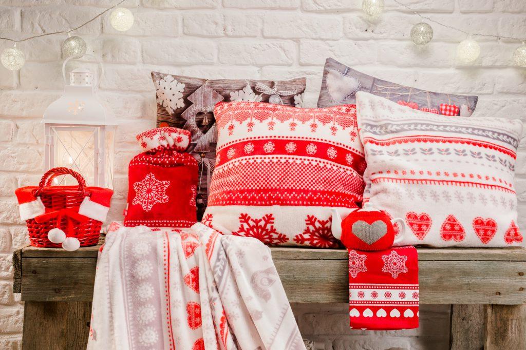 Текстиль на Новый год в скандинавском стиле