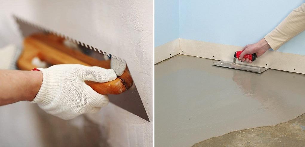 Выравнивание стен и пола в кладовке