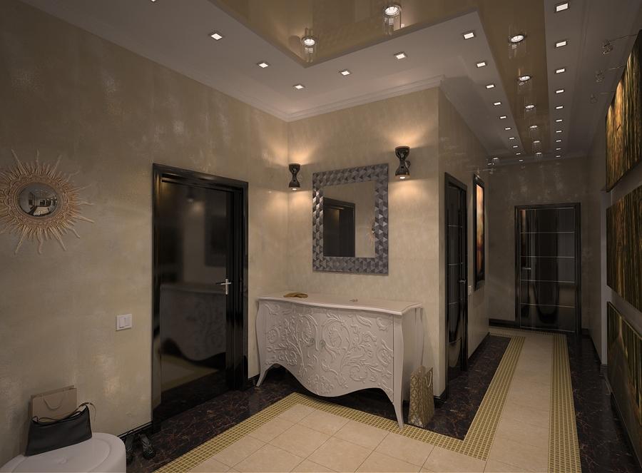 освещение в г-образном коридоре